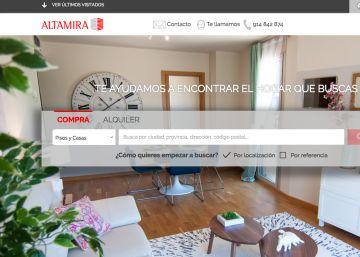 Altamira estrena web con 40.000 inmuebles