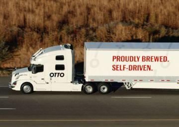 La cerveza llega en Estados Unidos en un camión sin conductor