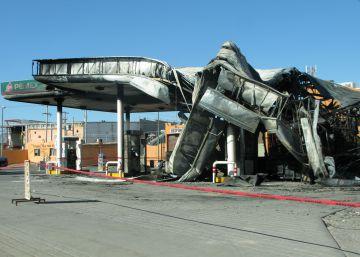 La gasolinera que ardió en Ciudad Juárez.