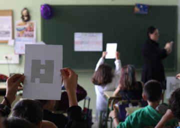 Alumnos del colegio Escolapias Carabanchel.