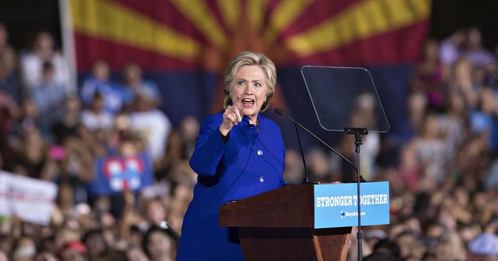 Hillary Clinton, durante un mitin el pasado 2 de noviembre.