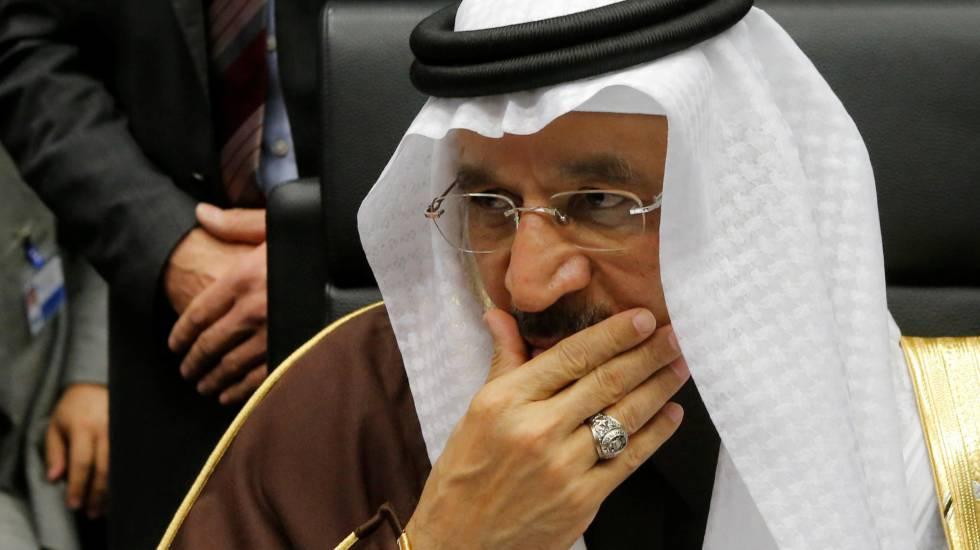 El ministro saudí de Energía en la reunión de la OPEP.
