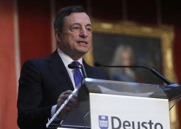 Draghi pide reformas para atajar la baja productividad