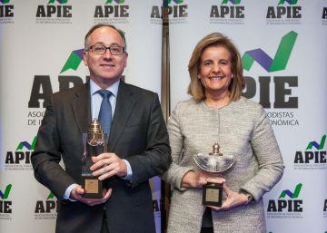 Báñez y Gallego, premios Secante y Tintero de la prensa económica