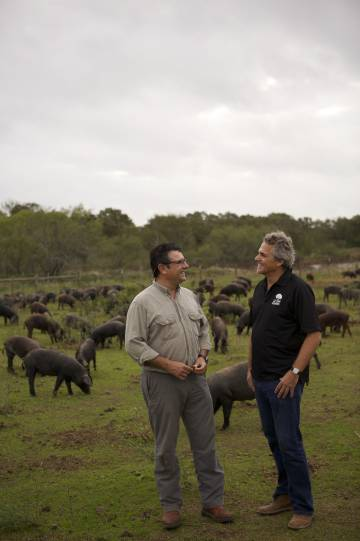 Manuel Murga and Sergio Marsal at their Texas ranch.