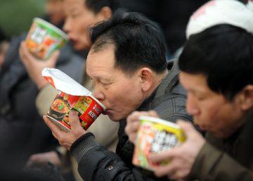La clase media china jubila los fideos instantáneos