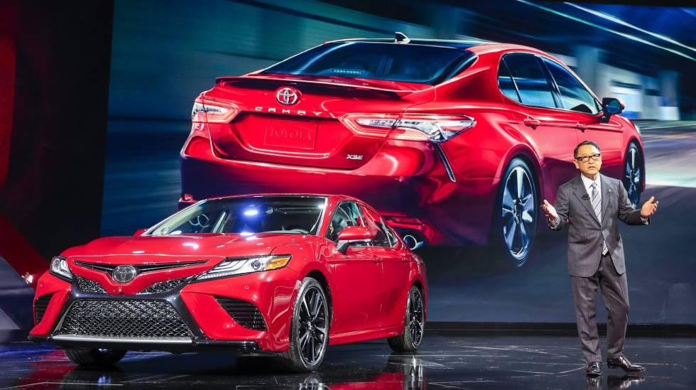 El presidente de Toyota, Akio Toyoda, en Detroit.