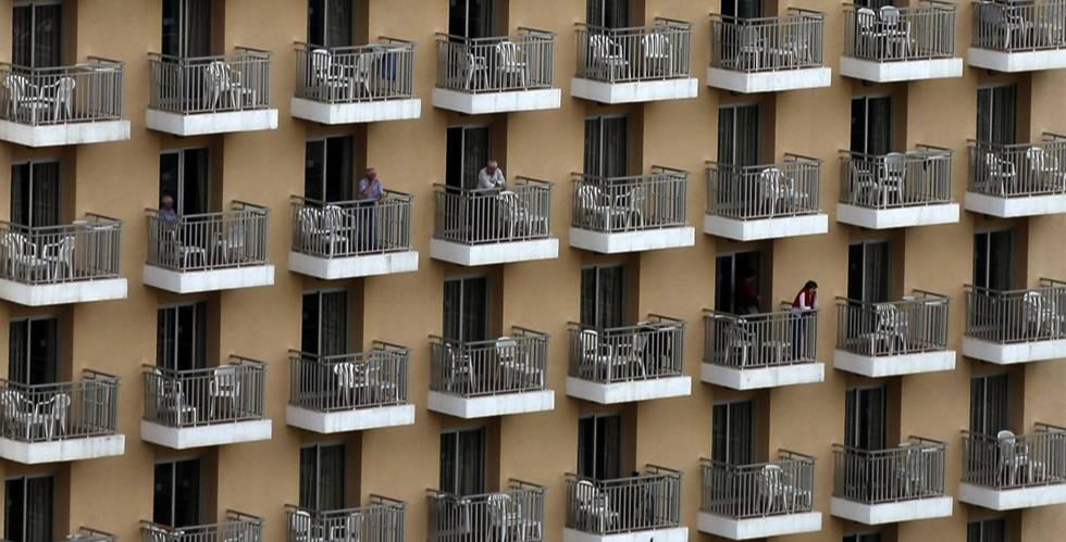 Balcones de un hotel en una imagen de archivo.