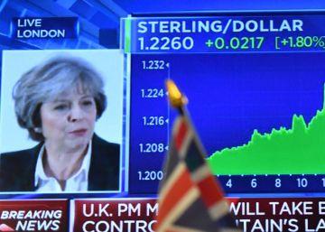 La libra alcanza máximos desde junio tras el discurso de May sobre el 'Brexit'