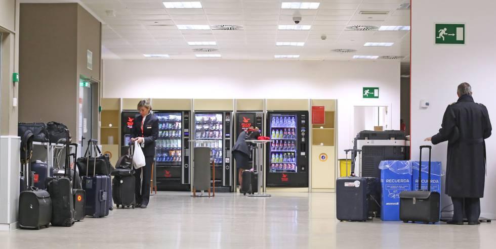 Sala de Firmas en el aeropuerto de Madrid-Barajas, donde se reúnen las tripulaciones antes de cada vuelo.