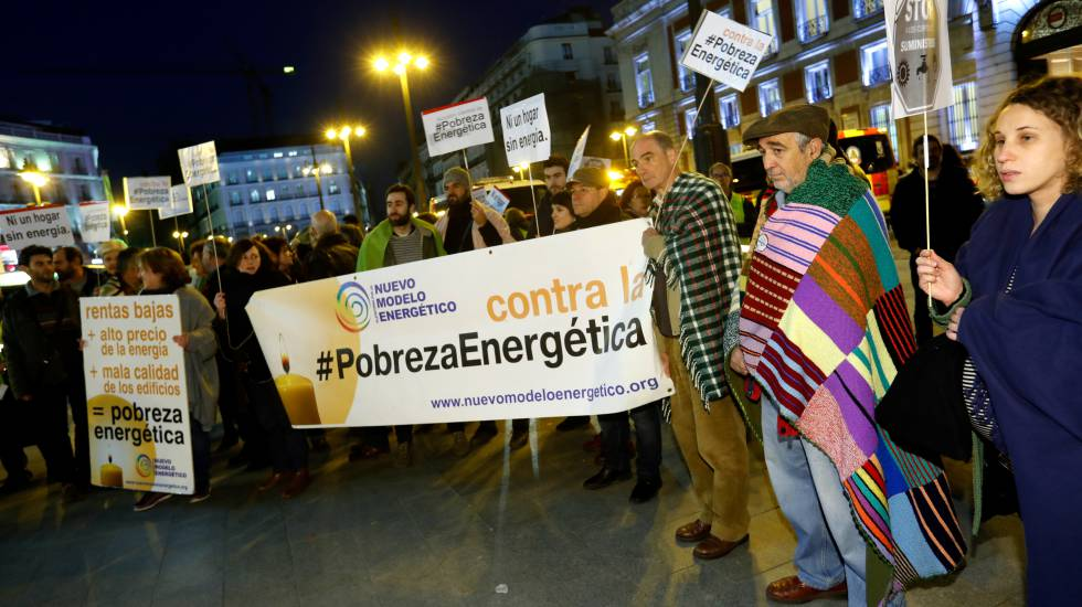 A Madrid protest against fuel poverty.