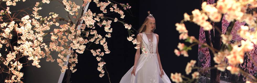 Un desfile en la Barcelona Bridal Fashion Week.