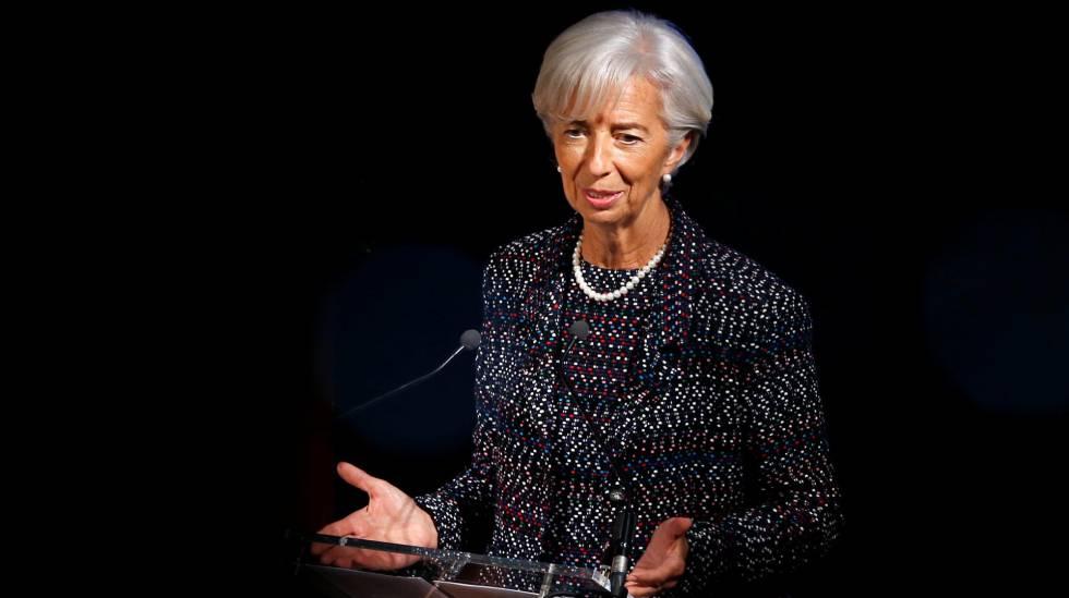 La directora gerente del FMI, Christine Lagarde, en Bruselas