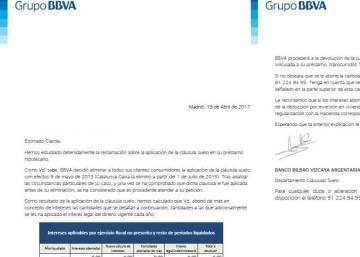 El bbva gana millones hasta marzo un 69 m s con for Clausula suelo ingles