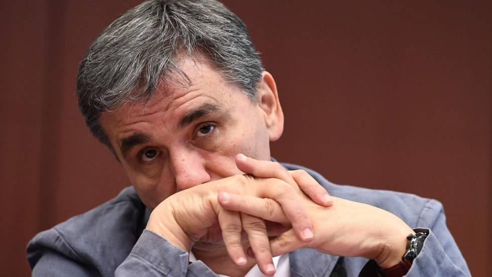 Grega ministro da Economia, Euclides Tsakalotos ontem no Eurogrupo.
