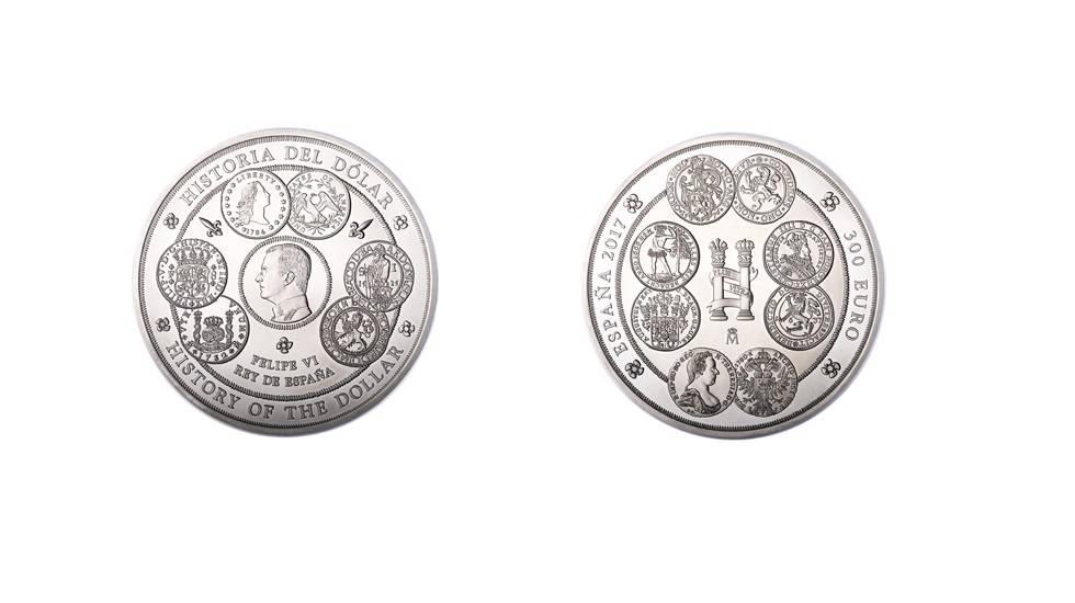 España fabrica una moneda de un kilo de plata como homenaje al dólar