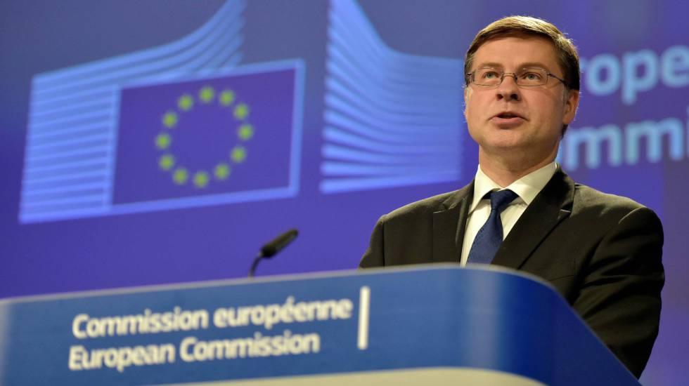 Valdis Dombrovskis, vicepresidente de la Comisión Europea.