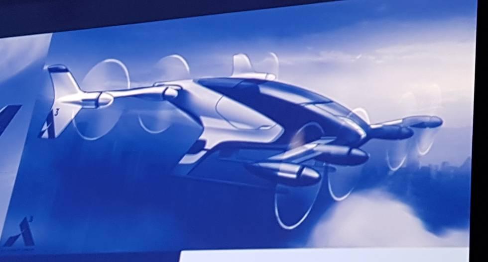 Prototipo del dron octocóptero de Airbus.