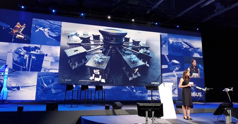 Airbus presenta su estrategia con drones en el Media Day, celebrado en Toulouse.