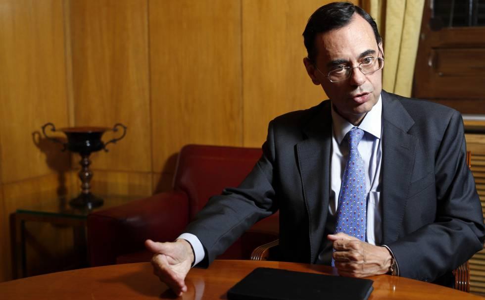 Jaime Caruana, director general del Banco de Pagos Internacionales, en la Bolsa de Madrid