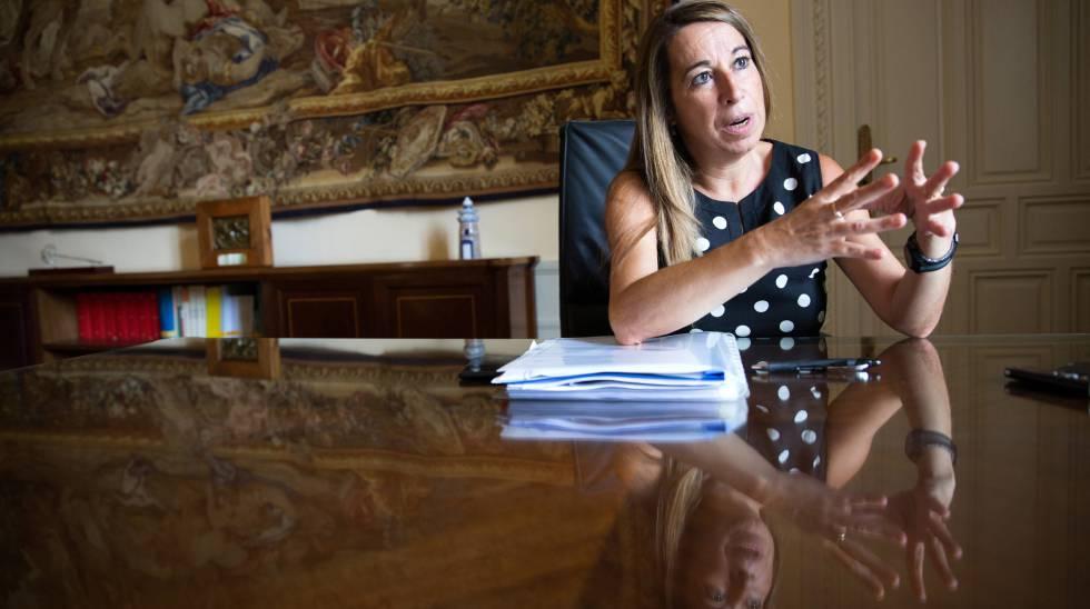 Elena Collado, durante la entrevista.