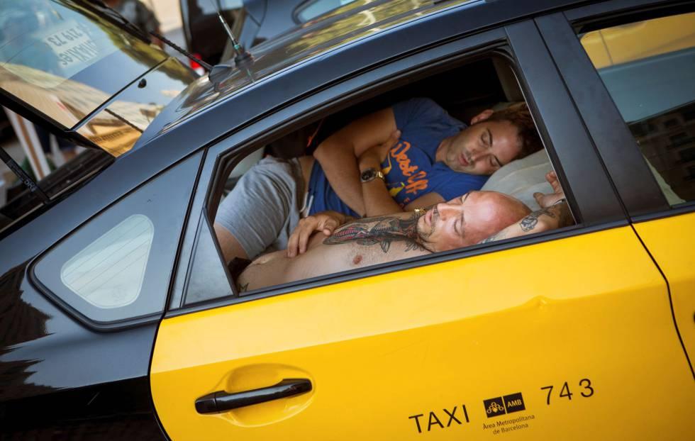 Due tassisti nelle proteste a Barcellona