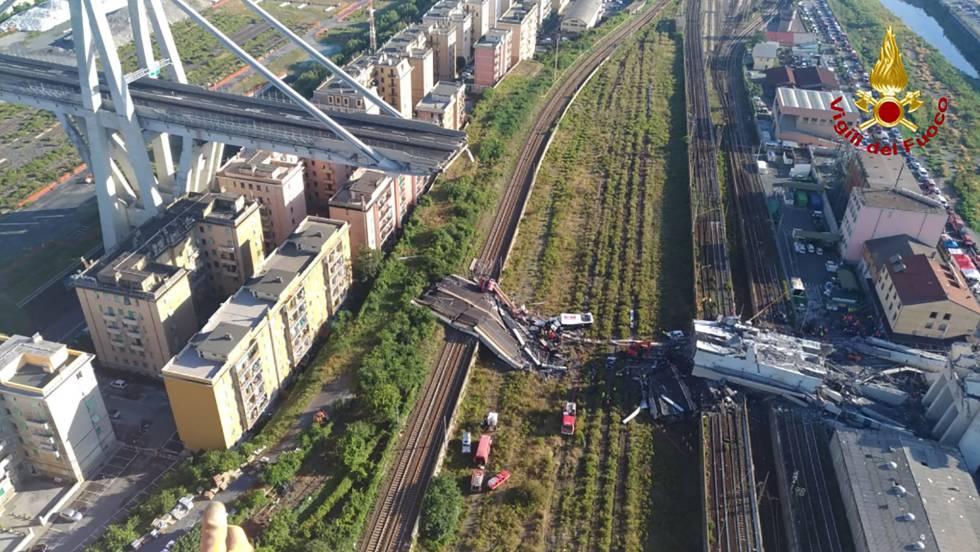 Ingenieros ya advirtieron sobre la inestabilidad del puente Morandi en 2017 — Italia