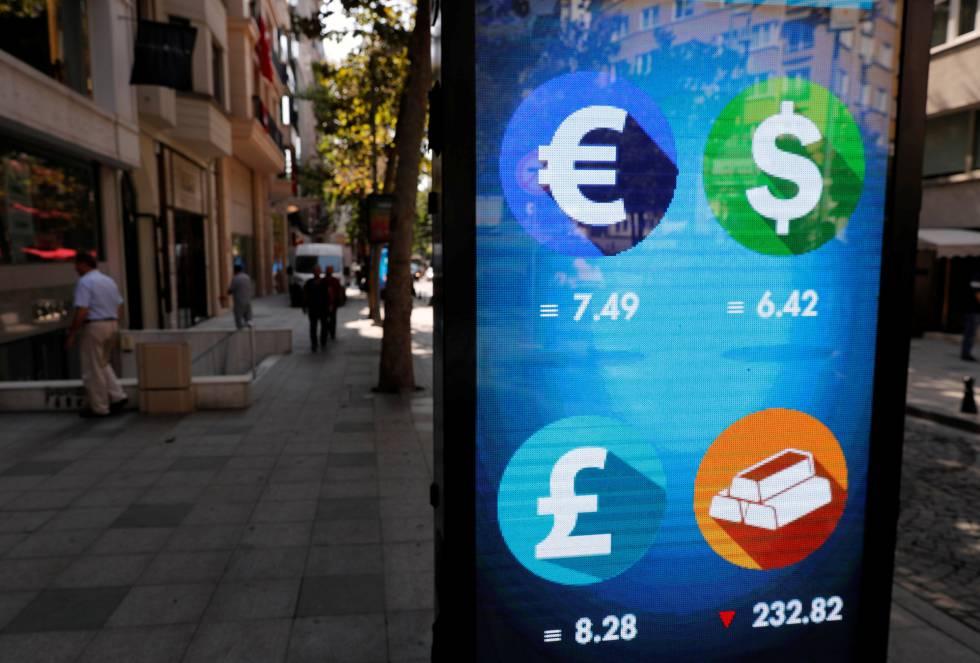 El banco central registra fuertes caídas de la lira — Turquía