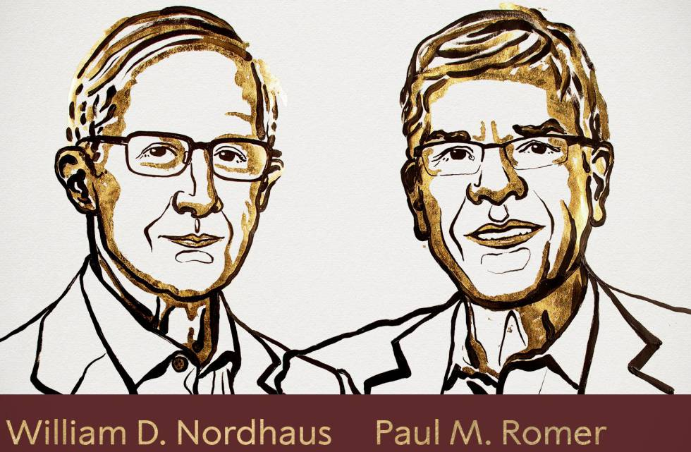 William Nordhaus y Paul Romer, ganadores del Premio Nobel de Economía