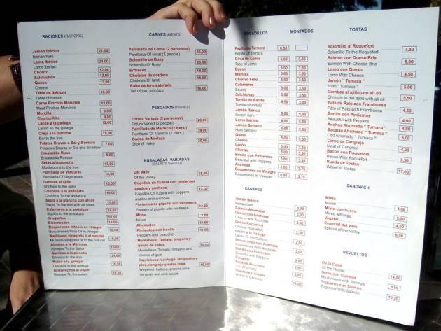 From lost to the carta: las peores traducciones de menús