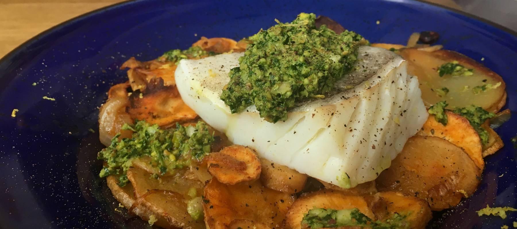 Bacalao con patata chiriv a y gremolata de pistacho recetas el comidista el pa s - Bacalao guisado con patatas ...