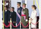 El Rey preside un corto desfile marcado por la muerte de 62 militares en Turquía