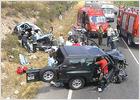 Cinco personas mueren en un accidente de tráfico en Manzanares el Real