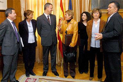 Caldera y Rumí, momentos antes de la reunión esta mañana de la Mesa de Diálogo Social de Migración.
