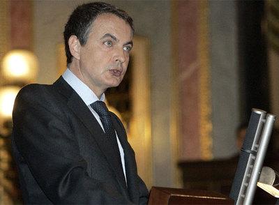 Zapatero, en su alocución de hoy en el Congreso