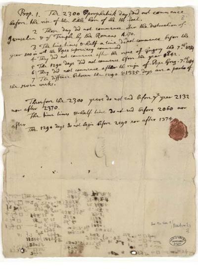 Uno de los manuscritos que forman parte de la exposición.
