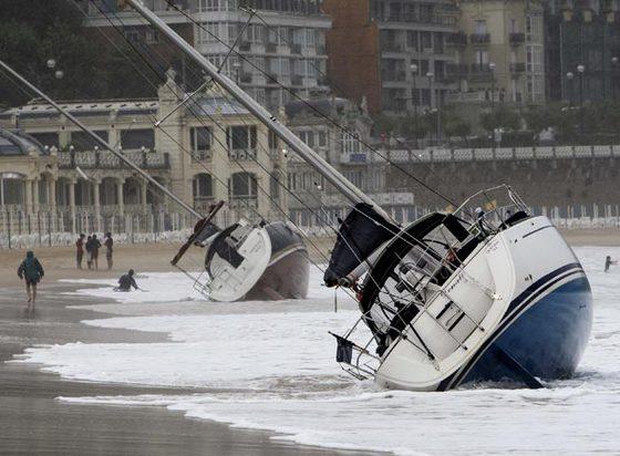 Un fuerte temporal de lluvia y viento azota san sebasti n - El tiempo para manana en san sebastian guipuzcoa ...