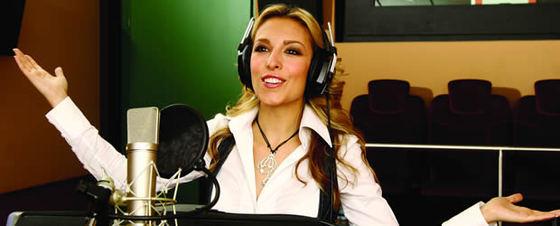 Gisela graba la banda sonora de 'Encantada. La historia de Giselle'