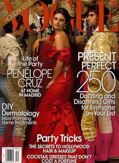 Portada de 'Vogue' con Penélope Cruz y Cayetano Rivera.