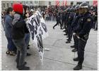 Un detenido y tres heridos en una protesta estudiantil en Madrid