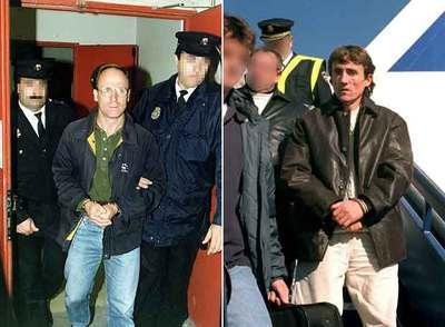 José Luis Álvarez Santacristina,  Txelis,  y Kepa Pikabea Ugalde, tras ser entregados a España en 1999 y 2001, respectivamente.