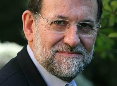 El candidato del Partido Popular a la presidencia del Gobierno, Mariano Rajoy, en un momento de la entrevista.