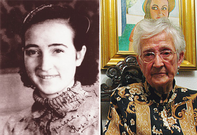 Rosario dinamitera, en 1936, con 17 años, y en la actualidad, con 86.