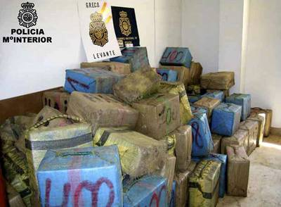 La Policía se ha incautado de más de trece toneladas de hachís en diversas operaciones