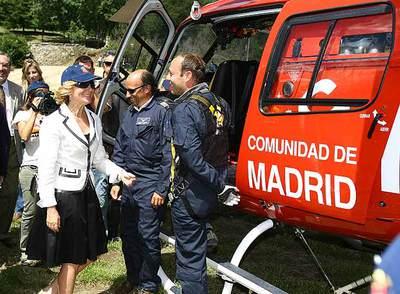 La presidenta Aguirre, durante la presentación del plan Informa 2008.