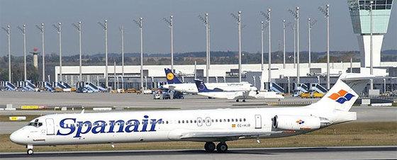 Este es modelo de la compañía estrellado en el aeropuerto de Barajas (Madrid)