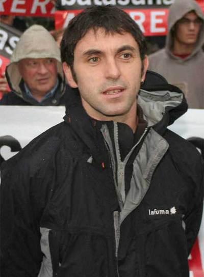 El portavoz de Batasuna en Francia, Xabi Larralde