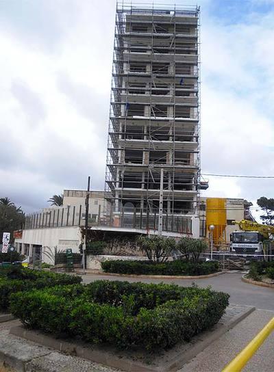 Imagen de una de las fachadas del hotel.