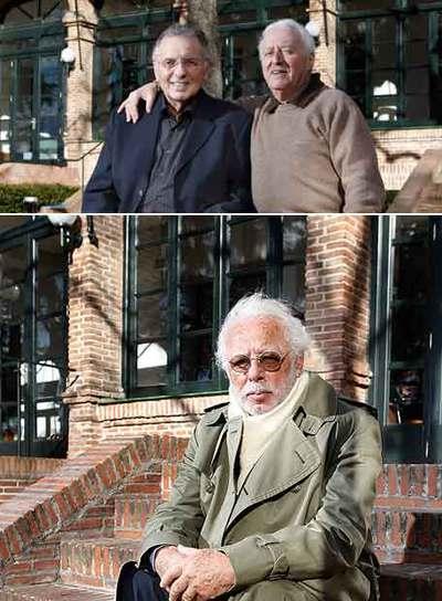 Charles David abraza a Paul Buchinger en la Residencia de Estudiantes de Madrid el pasado miércoles. Abajo, Siegfried Meir.