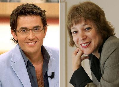 Màxim Huerta y Ángela Vallvey.